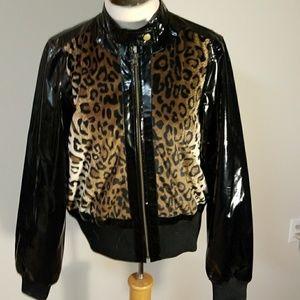 Patten leather  Cheetah print jacket